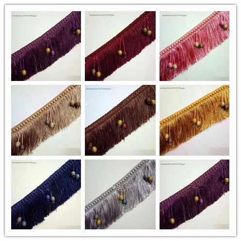 Batch 11 meters / European style new curtains Sui tassel lace 10 cm long sofa decorative accessories decorative sewing textiles
