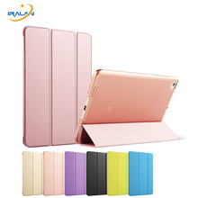 2017 hot Light Weight PU+Transparent PC Back Ultra thin Original Smart Cover for Xiaomi Mipad 2 3 Stand Case + stylus + film