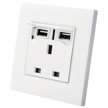 2100mA 5V 2 USB Wall Socket AC 250V UK  Home Charger Ports Outlet Power For phone