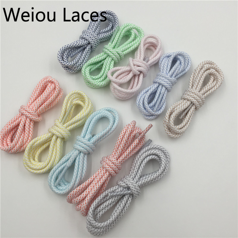 (30pairs/Lot) Weiou 16 Colors Athletic Hiking Custom Made Shoe Laces Walking Boot Laces Polyester Round Multi Color Shoelaces