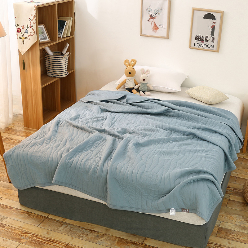 King Size Bedspreads And Quilts.Us 38 49 32 Off 150 200cm 200 230cm Kintted Summer Cotton Quilt Queen King Size Bedspreads Coverlet Quilted Throw Blanket Stitching Comforter In