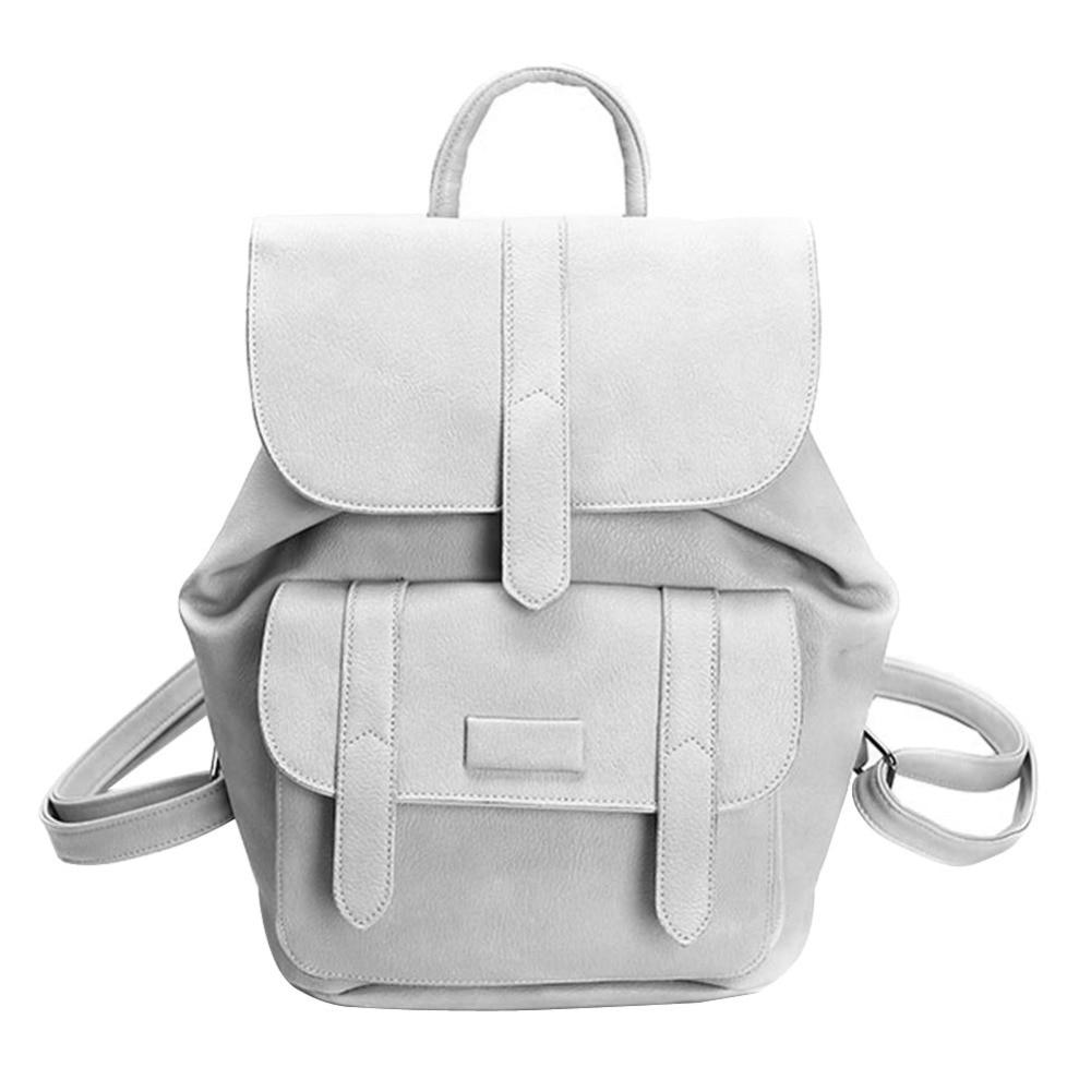 Famous Brand Women Backpacks Solid Vintage School Bags for Girls Nubuck Leather Backpack Female Small Back Pack mochila