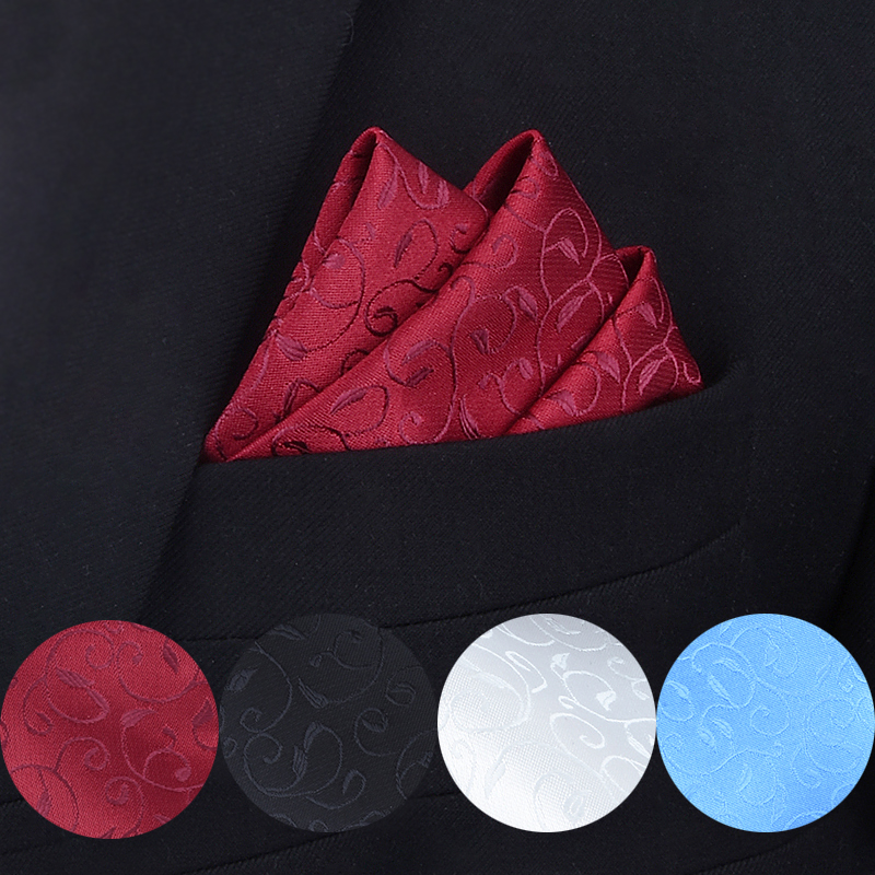 7 Styles Fashion Men's Pocket Square Western Style Floral Handkerchief For Suit Pocket Wedding Square Paisley Hanky