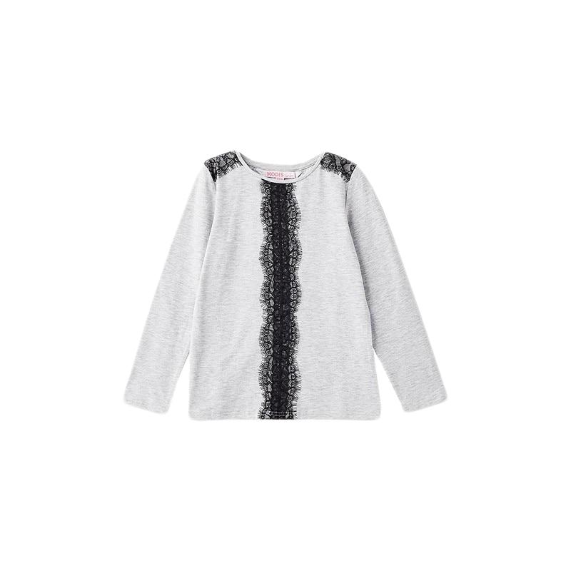 Blouses & Shirts MODIS M182K00018 for girls kids clothes children clothes TmallFS kids clothes sets for girls turn down collar blouses