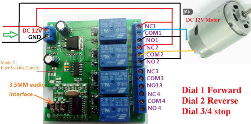 DC 12V DTMF MT8870 Phone Voice Decoder Control Momentary Toggle Latch Delay  Timer Multifunction Relay Remote Switch Module