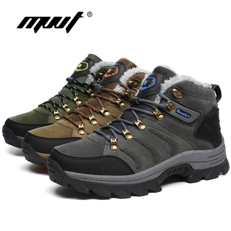 Men/'s Hiking Boots Outdoor Waterproof Trail Climbing Fur Shoes Sports Winter Hot
