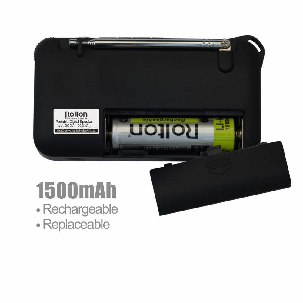 Rolton W405 ポータブルミニ FM ラジオスピーカー音楽プレーヤー TF カード Usb PC iPod 電話 led ディスプレイ