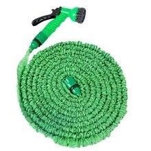 купить 1pcs 25 50 FT Expanding Flexible Garden Water Pocket Hose Spray Nozzle Car дешево
