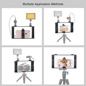 Image 4 - Держатель для смартфона PULUZ для прямой трансляции, видеосъемки, записи, Ручной Стабилизатор, кронштейн для iPhone ,Galaxy,Huawei,Xiaomi