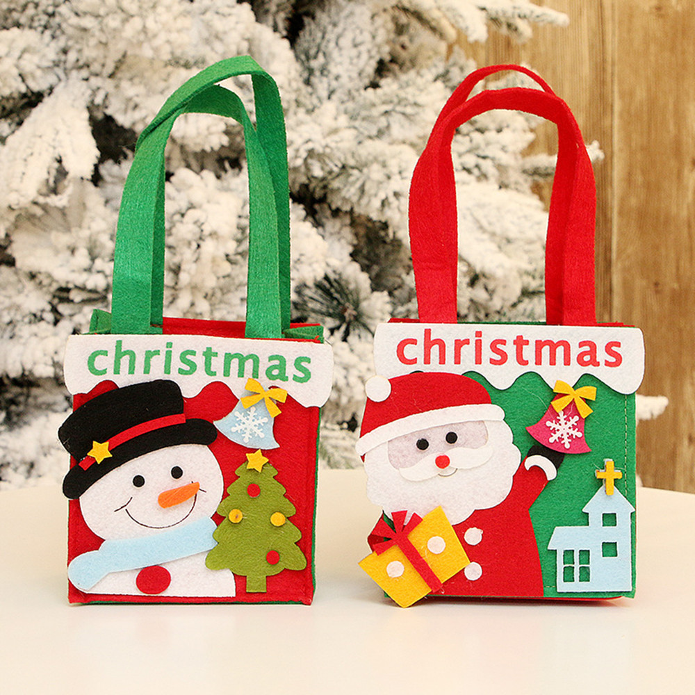 2018 New Novelty Christmas Candy Bag Non woven Gifts ...