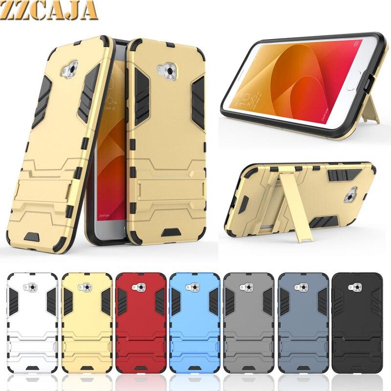 ZZCAJA For ASUS ZenFone 4 Selfie ZD553KL Case Shockproof & Kickstand Heavy Duty Cover For ASUS ZenFone Live Plus X00LDA X00LDB