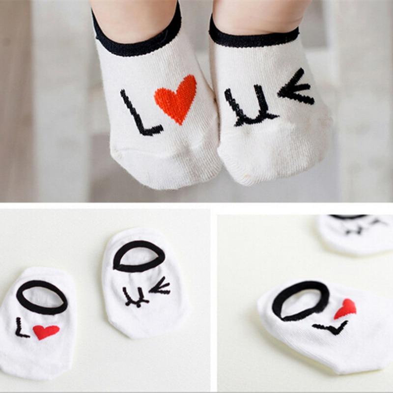 20 Types Retail New Spring Autumn Unisex Baby Socks Newborn Boys Girls Cute Cartoon Cotton Toddler Asymmetry Anti-slip Socks
