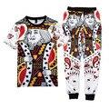New 3D suit Rap 2pac tupac t shirt tops+pants Harajuku clothes set hip hop Suit&joggers pants 2 piece set plus size M-XXL