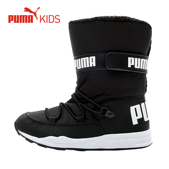 e61776236b54 PUMA Child Kids Winter Snow Boots Boys Plush Mid Calf Waterproof Warm Fur  Height Increasing Girls Casual Brand Sneaker Boots