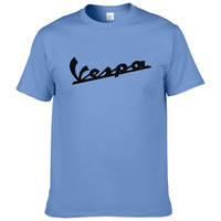 Vespa T Shirt Men 2017 Funny Vespa T Shirt 100 Cotton Summer Short Sleeve Round Neck