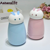 Cute Rabbit Style Mini Thermos Cup Stainless Steel Water Bottle Coffee Mug Portable Travel Vacuum Cup