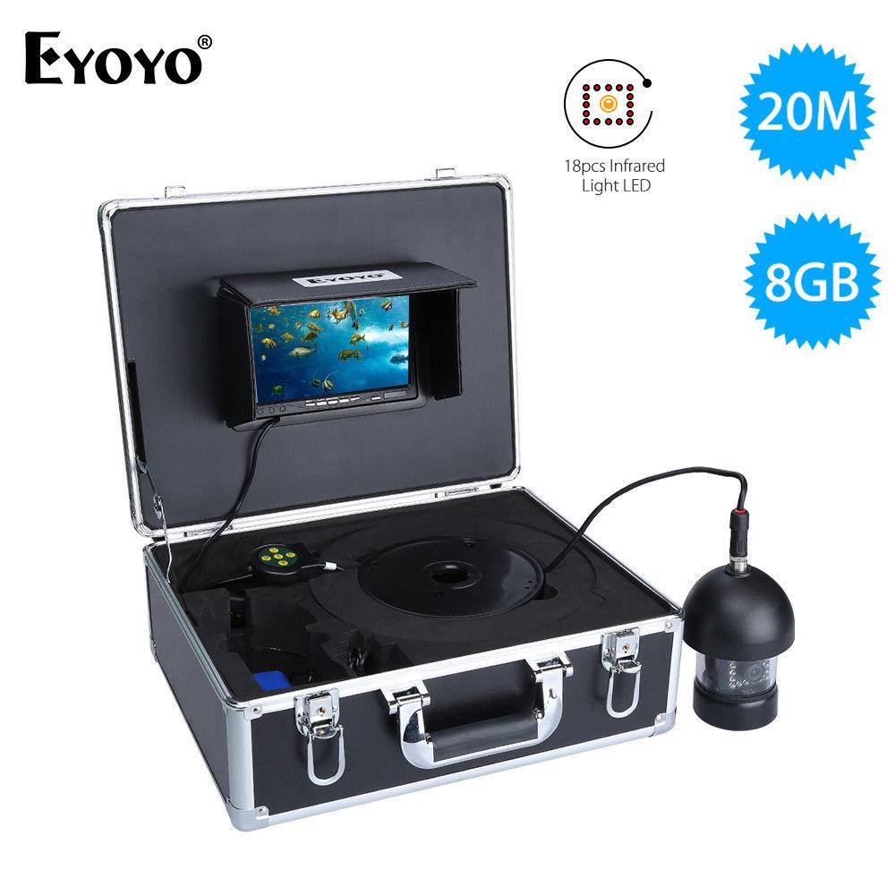 Eyoyo 7inch 360 degree 8gb dvr underwater fishing camera for Underwater fishing camera