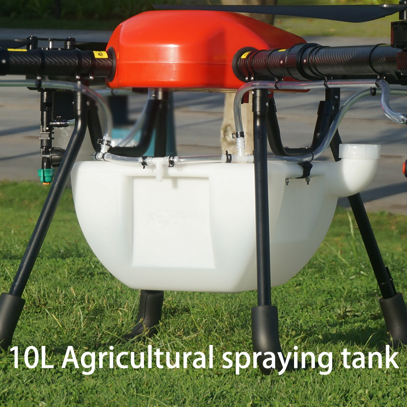 10L Agriculture spraying tank Double mouth tank pesticide spraying pot DIY spray tank for agriculture UAV drone pesticide spraying pump flow rate adjustable remote switch 25a current for diy agricultural multi rotor uav drones