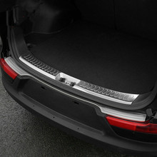 2011 2015 KIA Sportage R high quality rear door sill plate bumper protector 304 brushed stainless