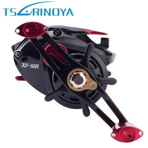 Image 4 - Tsurinoya xf50 baitcasting carretel de pesca r/l 6.6:1 ímã sistema de freio luz liga alumínio carretel molinete molinete peche