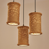 country iron rope pendant lamp loft retro Restaurant Bar Cafe Bar special offer creative clothing store pendant lamp ZZP8064