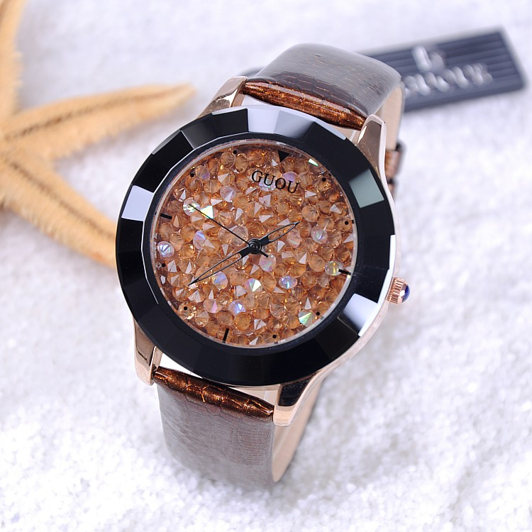 Hot 2019 New Arrival Hongkong Brand Women Rhinestone Watches Austrian Crystal Ceramic Leather Band Women Dress Watches Drop Ship