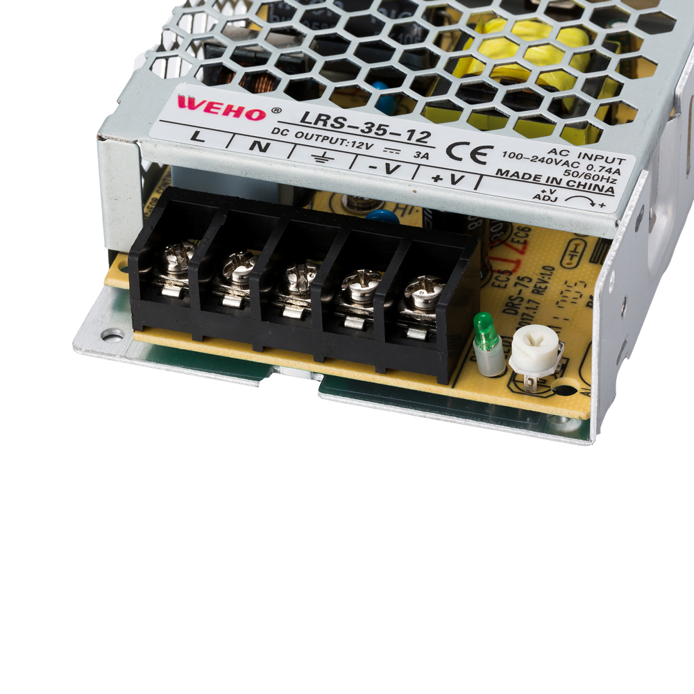 LRS-35-12 Output Voltage: 24V WEHO Slim Type SMPS 30mm 35w ...