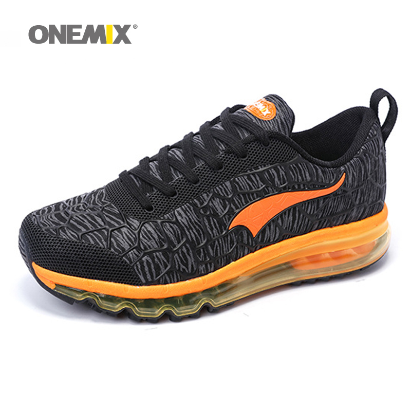 Onemix Hot sale Men air running shoes for women brand breathable walking sneakers athletic outdoor sports Training shoes 35-46 new hot sale children shoes pu leather comfortable breathable running shoes kids led luminous sneakers girls white black pink