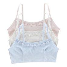 ecccf4eb6 De algodón caliente de la pubertad adolescentes chicas sujetador deportes  ropa interior chica estudiante sujetador de