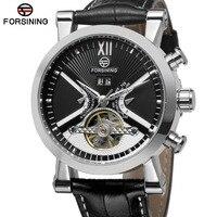FORSINING Men S Watch Super Stylish Import Branded Autoamtic Tourbillion Calendar Wristwatch Classic Color Black FSG2371M3