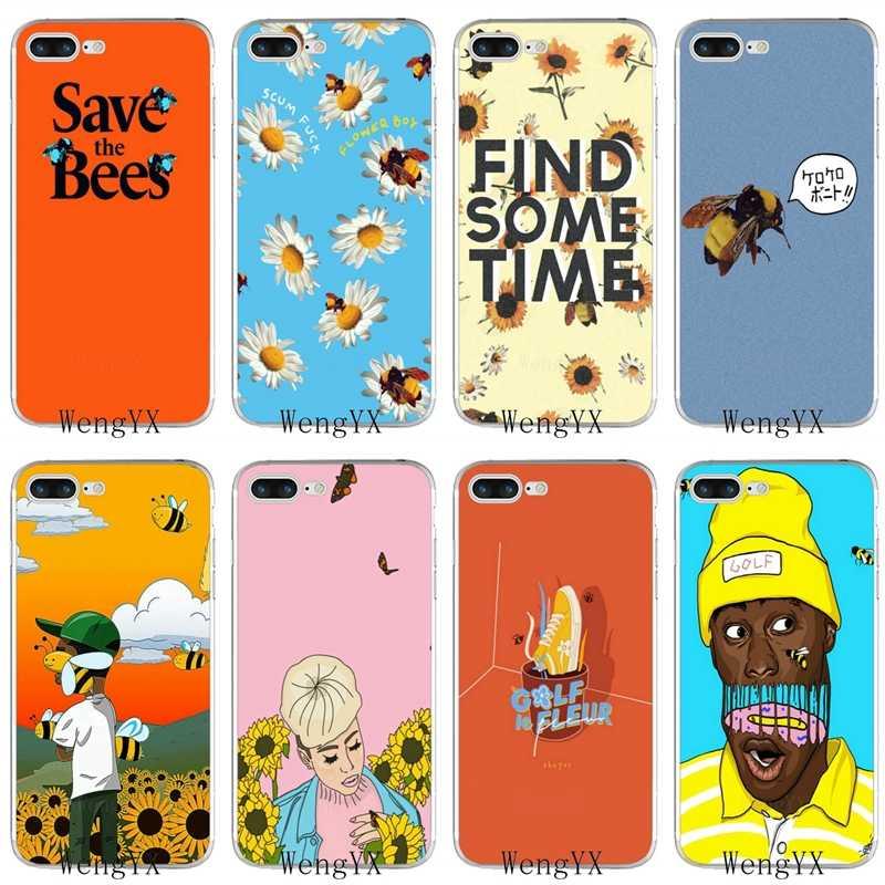 bf2f4c5e1cf1 flower boy tyler the creator slim silicone TPU Soft phone case For iPhone X  8 8plus
