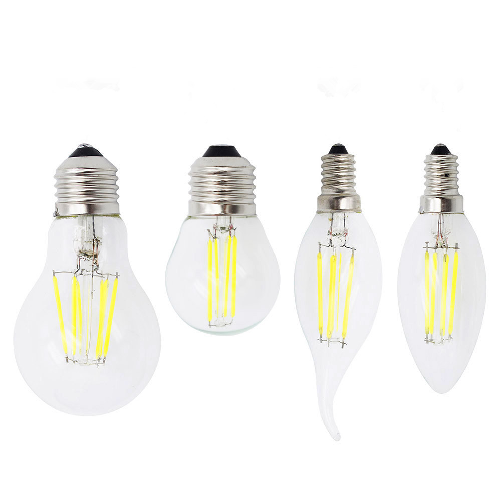 Dimmable Ampoule 2W 4W 6W 8W E27 Retro Edison Glass 220V Lamp E14 LED Filament Bulb Candle Light For Chandelier Bombillas