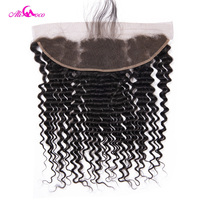 Ali Coco Deep Wave Lace Frontal With Baby Hair 13X4 EarTo Ear Lace Frontal Closure 100 % Human Hair Weave Non remy Hair