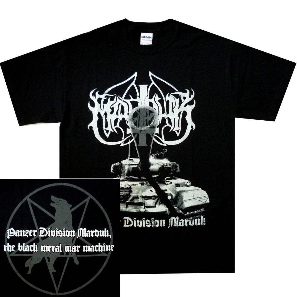 Marduk Panzer Division Official Shirt S-3XL Black Metal T-Shirt New Cheap Sale 100 % Cotton T Shirts for Boys
