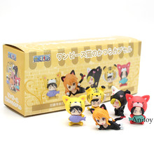 Anime One Piece Luffy Boa Hancock Zoro Sanji Lei Animal Cão Ver. Mini Ação PVC Figuras Brinquedos Infantis Presente 5 pçs/set(China)