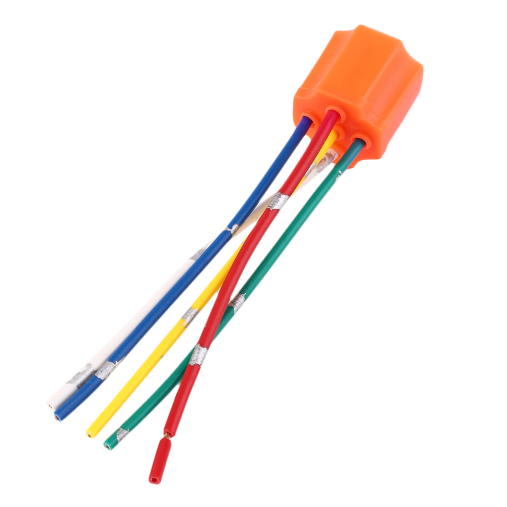 Relay Socket Car Relay Orange Plastic Replacement Relay Socket Harness 5 Pin 5 Wire For Car