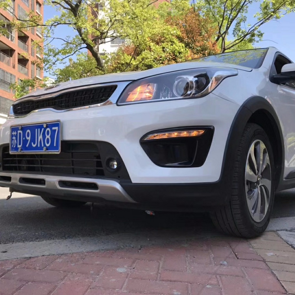 Car 12V DRL Day Lights Lamp For Russia KIA RIO X-Line 2018 Highlight Auto Driving Daytime Running Lights on Car DRL Super BrightCar 12V DRL Day Lights Lamp For Russia KIA RIO X-Line 2018 Highlight Auto Driving Daytime Running Lights on Car DRL Super Bright