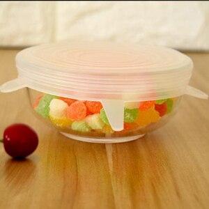Image 3 - 6 stks/set Hot Huishoudelijke Voedsel Verse Houden Deksels Rekbaar Multi functionele Groente en Siliconen Cover Keuken Benodigdheden