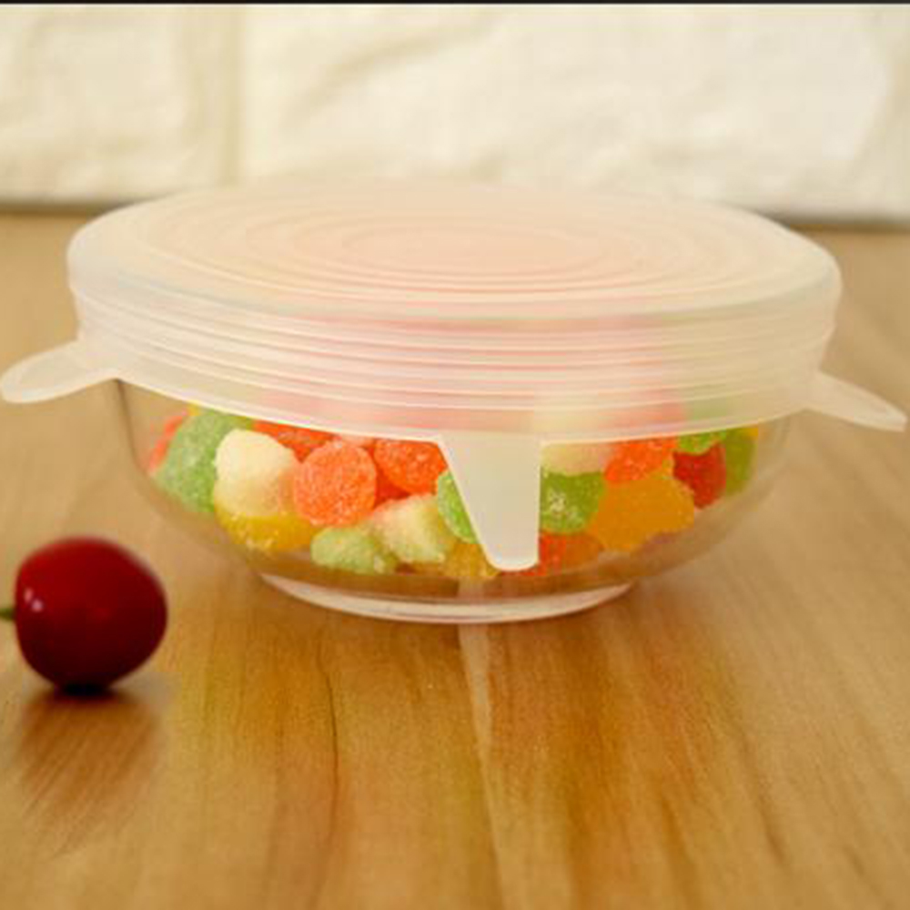 Image 3 - 6PCS/Set Hot Household Food Fresh Keeping Lids Stretchable Multi functional Fruit and Vegetable Silicone Cover Kitchen Supplies-in Fresh-keeping Lids from Home & Garden