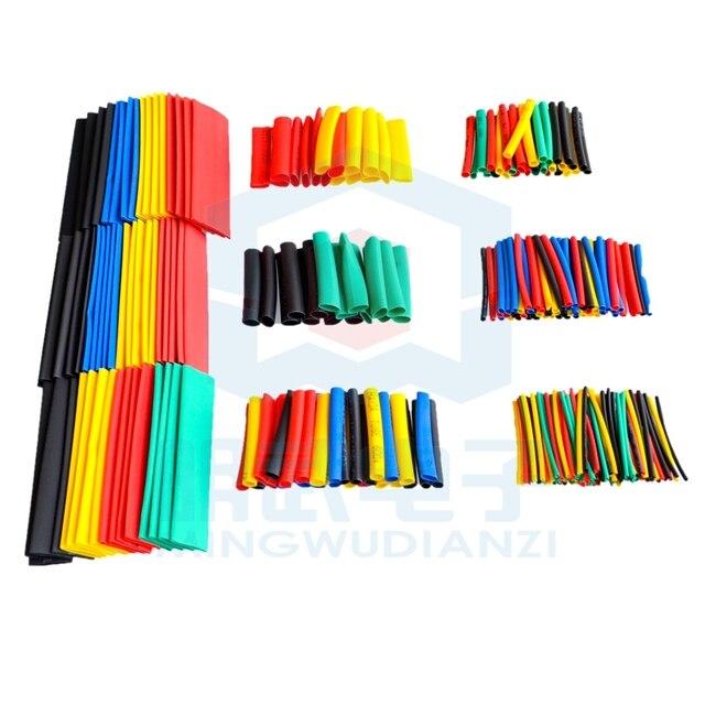 328Pcs Auto Cavo Elettrico Del Tubo kit Tubi di Calore Del Tubo Termoretraibile Wrap Manica Assortiti 8 Formati di Colore Misto