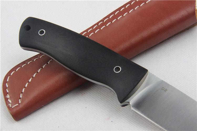 Aukštos kokybės 58-60HRC D2 ašmenis G10 rankena fiksuotas peilis - Rankiniai įrankiai - Nuotrauka 3