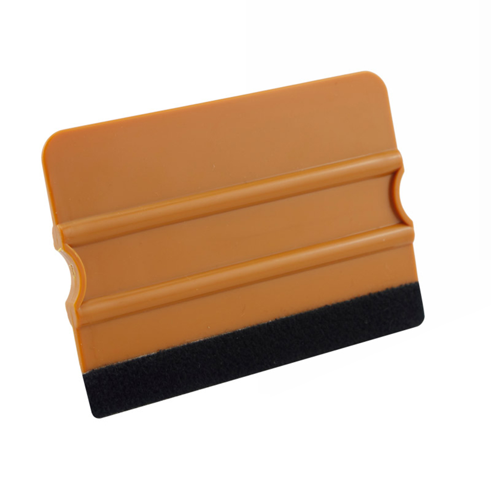 Image 2 - Gold Plastic Felt Edge Squeegee Car Vinyl Wrap Application Tool Scraper Decal  MO 70F-in Car Stickers from Automobiles & Motorcycles