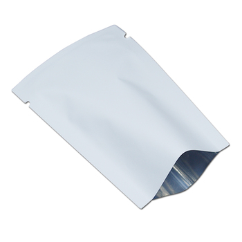 Frosted White Aluminum Foil Bag Open Top Mylar Pouch Heat Sealing Vacuum Package Bags for Sugar Snack Coffee Storage Packaging