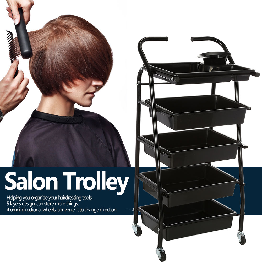 Yc 202 hair drawers salon trolley rolling cart salon for Salon trolley