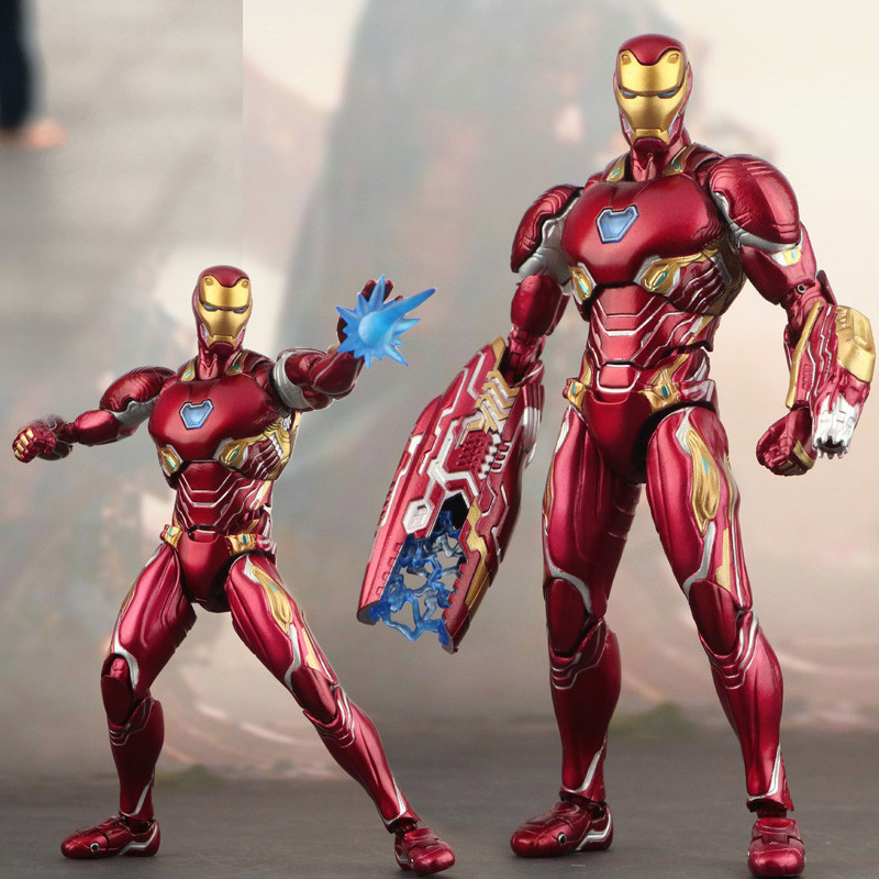 SHF Marvel Iron Man Action Figures Mark 50 Model Toys Collections Children Gifts Avengers Endgame 4