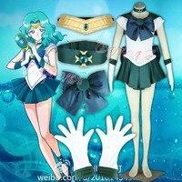 Cafiona Cheap Sailor Moon Kaiou Michiru Sailor Neptune Cosplay Costume Sexy Party Dresses Free Shipping