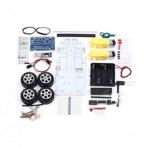 Image 5 - DIY Kit C51 inteligentny pojazd unikanie przeszkód śledzenie inteligentny zestaw samochodowy dwa napędy silnikowe inteligentny pojazd samochód robot
