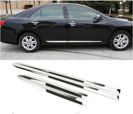 Car Side Door Body Trim stainless stee 4PCS/SET For Toyota CAMRY2012- 2017 Molding Plate Cover Sticker Glossy Silver Accessories
