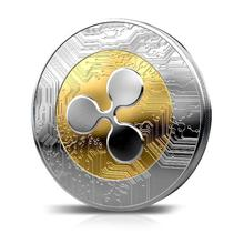 1 шт. гофрированная монета XRP CRYPTO памятная пульсация XRP круглые коллекторы монета подарок
