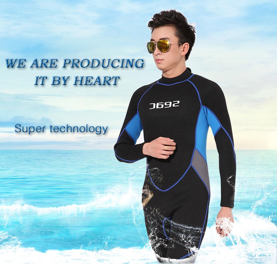2017 Men's 3mm Neoprene Warmth Wetsuit Snorkeling One-piece Long sleeve Swimwear Tight Fitting Water Sport Wetsuits Diving Suit men s winter warm swimwear rashguard male camouflage one piece swimsuit 3mm neoprene wetsuit man snorkeling diving suit
